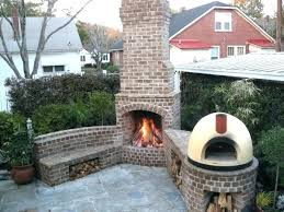 backyard brick fireplace s ctom outdoor for cooking