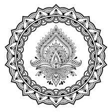 Fototapeta Kruhový Vzor Ve Formě Mandalahenna Tetování Květu šablony V