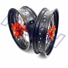 aliexpress com buy motard wheels 17 kit ktm 690 2008 2016 orange