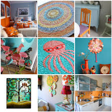 1 bedroom in orange white blue and snow outside 2 sunny day crochet rug 3 the kitchen needed some orange 4 dogwood 5 glasses wearing octopus rug