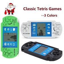 children toys classic handheld game machine tetris brick kids with music playback 1pc