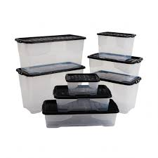 strata curve plastic storage boxes with