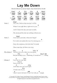 Lay Me Down Chord Chart Sheet Music Digital Files To Print Licensed James Napier