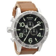 nixon men s watches shop the best deals for 2017 nixon men s 51 30 stainless steel leather strap chronograph watch
