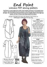 Lagenlook Sewing Patterns Simple END POINT Medium Sizes Womens PDF Sewing Pattern Boho Banjo Art