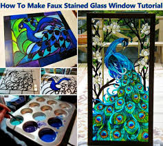 diy faux stained glass window tutorial