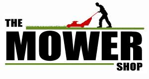 lawn mower logo. the mower shop lawn logo