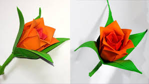 How To Make Origami Paper Flower Diy Paper Rose In Origami Style Easy Paper Rose