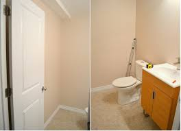 adding a basement bathroom. Clearly There Wasn\u0027t Space In The Bathroom To Add A Shower, But Luckily Was Huge Storage Closet Just Behind Empty Wall On Left Side - Plenty Adding Basement H