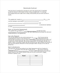 Sample Roommate Contract 8 Roommate Contract Template Word Google Docs Apple Pages