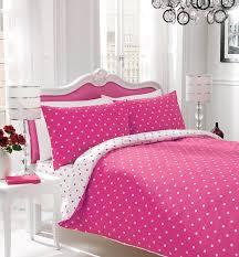 polkadot spots ed sheet pillow case duvet quilt cover set