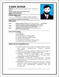Cv Resume How To Write Sample Curriculum Vitae For Teachers