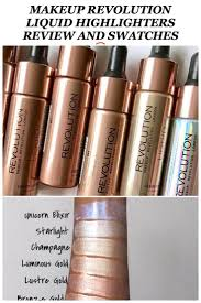 makeup revolution liquid highlighter review and swatches cover fx custom enhancer drops dupe