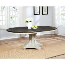 weathered round dining table rustic white oak