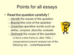 writing for the ap government exam types of ap essays formal points for all essays the question carefully