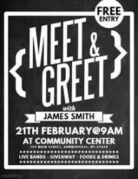 Meet And Greet Flyers Templates Meet Greet Flyer In 2019 Flyer Template Social Media
