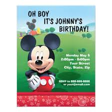 Mickey Mouse Birthday Invitation Zazzle New Birthday Invitation Pictures