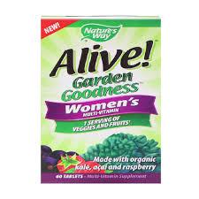 nature s way alive garden goodness women s multivitamin 60 tablets