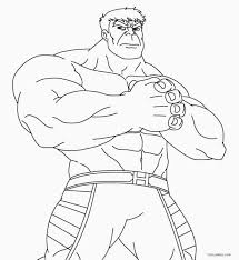 Incredible Hulk Coloring Pages To Print Printable Coloring Page