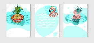 手描きの背景抽象芸術フリーハンド描画異常な夏の時間カードは海の波が
