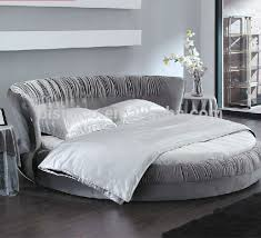 New Model--Bisini Top Grade Fabric Grey Round Bed, Double Bed