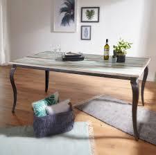 Finebuy Esstisch Pintu Massivholz Shabby Chic 180x77x90 Cm Esszimmertisch Modern Design Küchentisch Massiv Groß Massivholztisch Esszimmer