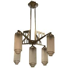 art deco chandelier french with skyser motif reion lighting uk art deco chandelier