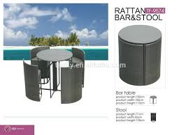 space saver bar table new design space saving patio rattan outdoor wicker high bar chair and space saver bar table