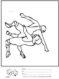 Small Picture olympic wrestling coloring page Kids Activities Pinterest