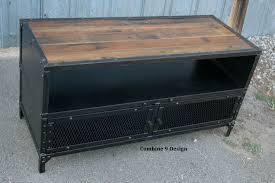 industrial tv console.  Console Custom Made Vintage Industrial Tv Stand Steel U0026 Reclaimed Wood Mid  Century Modern On Console