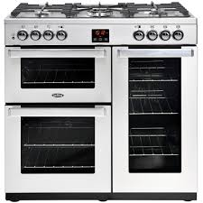 Why Dual Fuel Range Buy Belling Cookcentre 90dft Professional Stainless Steel 90cm