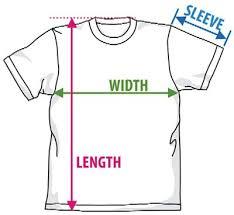 T Shirt Size Charts Custom Funny Tees Guerrilla Tees
