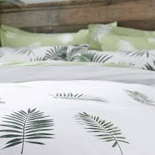 charlotte thomas fern printed polycotton reversible duvet cover