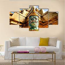 carrying giant golden pagoda multi panel canvas wall art on 5 panel giant dragon wall art canvas with culture canvas online