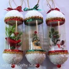 Christmas Decorations Made Out Of Plastic Bottles Como fazer globo de neve com garrafa pet Craft Decoration and Xmas 1