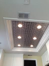 Kitchen Ceiling Led Lighting Remodel Flourescent Light Box In Kitchen We Also Replaced The