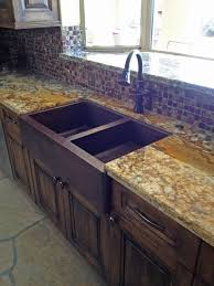 33 copper farmhouse sink 50 50 double well sink