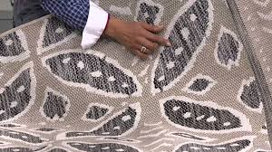ed on air medallion pattern outdoor rug by ellen degeneres on qvc