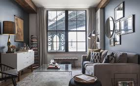 Living Room With Grey Sofa An Amazing Living Room In Grey Color With Modern Grey Sofa And