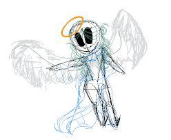 Angel Sketch Pixilart Angel Oc Sketch By Wurts Sketches