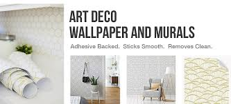 art deco collection on wall designer accents adhesive art with art deco peel and stick wallpaper collection wallsneedlove