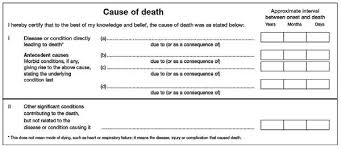 1 Cause Of Death Section Of A Sample Medical Certificate Of
