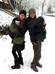 Babywearing in cold weather - this can make a lot off joy!