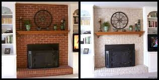 fireplace brick painting cool painting a red brick fireplace le painting fireplace brick before and after