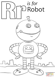 Small Picture Get This Letter R Coloring Pages Robot r8591