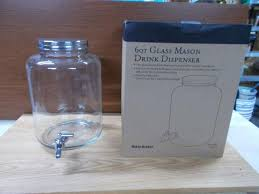 gallon mason jars 2 gallon glass beverage dispenser vintage mason jar cold drink 1 2 gallon