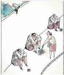 Sozialwissenschaft Humor Cartoon: Aufmerksamkeit.