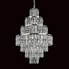 impex cf03220 08 ch new york 8 light cascade chandelier chrome and crystal