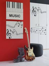music themed bedroom