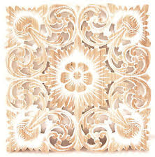 recycled teak wood carving wall art decor hanging handmade square plaque white on teak wall art australia with wooden wall sculptures ebay